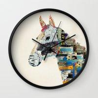 mod Wall Clocks featuring the mod horse by bri.buckley