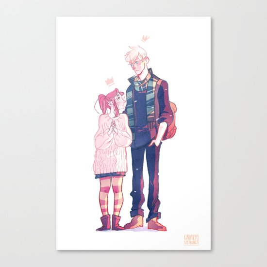 Smelling like snow Canvas Print
