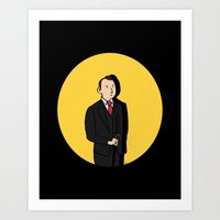 tintin Art Prints featuring Tintin style Mycroft by thediogenes