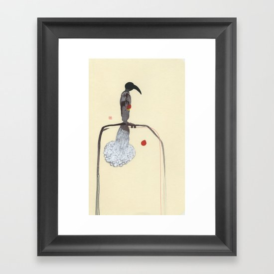 Drinking From Two Hearts Framed Art Print