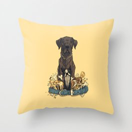 Dogs1 Throw Pillow