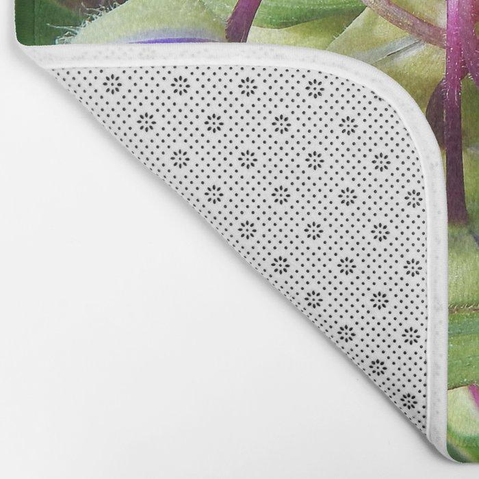 Spiderworts Flower Stems Bath Mat