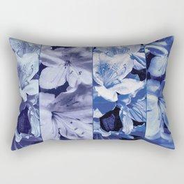 Light ultra violet azalea bush as photographed panels with varying tones Rectangular Pillow