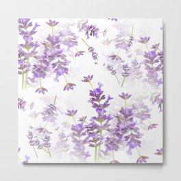 Lavender Bouquets On White Background #decor #society6 #buyart Metal Print