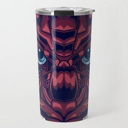 Mythical Cat Sacred Geometry Travel Mug