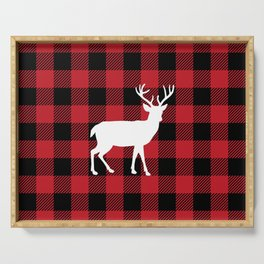 Buffalo Plaid - Deer Serving Tray