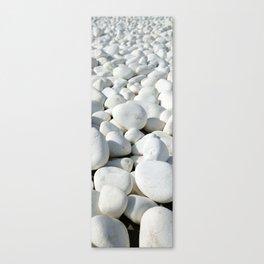 White stones Leinwanddruck