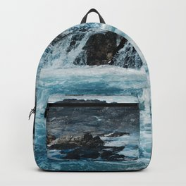 Blue Ice Glaciers Melting in Spring Backpack