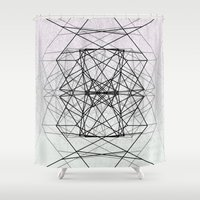 code Shower Curtains featuring Code by Dood_L