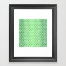 Green Mermaid Scales Framed Art Print