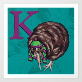 Alphabetical Birds: K Art Print