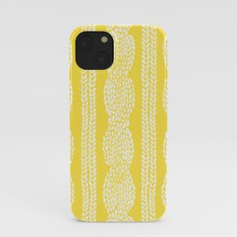 Cable Row Yellow iPhone Case