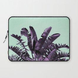 Purple banana leaves, turquoise sky Laptop Sleeve