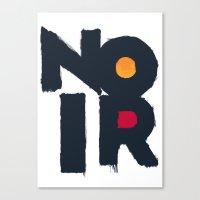 noir Canvas Prints featuring Noir by sonsofwolves