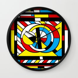 Neoplastimajig - Abstract Geometric Art Wall Clock