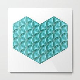 Modular Teal Heart Metal Print
