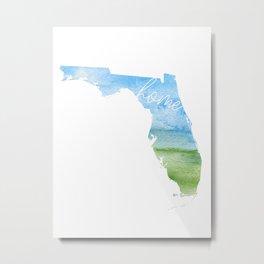 Florida Home State Metal Print