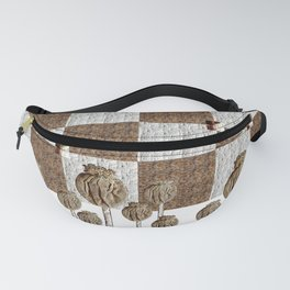 Poppy seed pods in neutral Fanny Pack