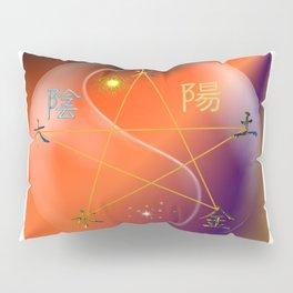 Feng Shui five elements Orange Purple Pillow Sham