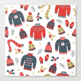 Winter pattern Canvas Print