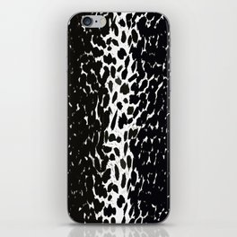 Animal Print Cheetah Love Black and White #2 Collection iPhone Skin
