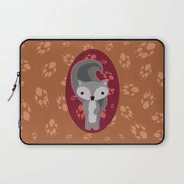 Squirrel with Paw Prints Laptop Sleeve