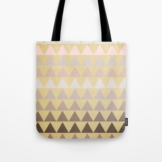 Muted Triangles Tote Bag