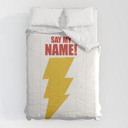 Shazam (Say My Name!) DC Comics Fan Art Comforters