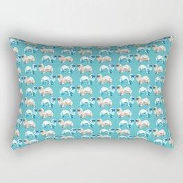 Polygon Tibetan Spaniel Elegant Turquoise Pattern Rectangular Pillow