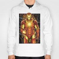 iron man Hoodies featuring Iron man by Fathi