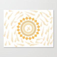 Leaf Mandala Canvas Print