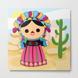 Maria 3 (Mexican Doll) Metal Print