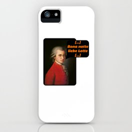 Bona Notte Dear Lotte Mozart iPhone Case