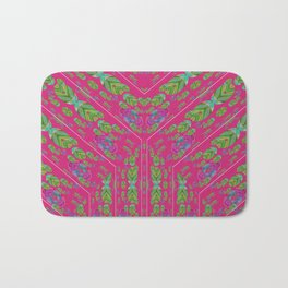 Infinities of Love in Abstract Pink Bath Mat