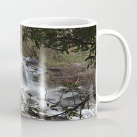 waterfall Mugs featuring Waterfall by Four Hands Art