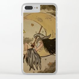 Witchy Woman Clear iPhone Case