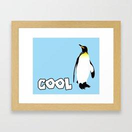 Cool Penguin Framed Art Print