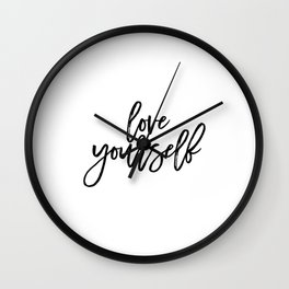 Justin Quote Justin Print Justin Song purpose album Song Lyrics Typographic Print Love Yourself Gift Wall Clock