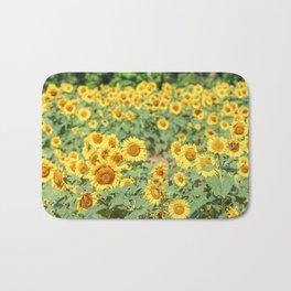 Sunflower Fields Bath Mat
