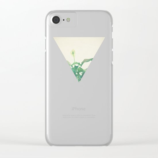 Peace Lily Clear iPhone Case