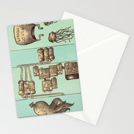 The Squid and The Capacitor Stationery Cards