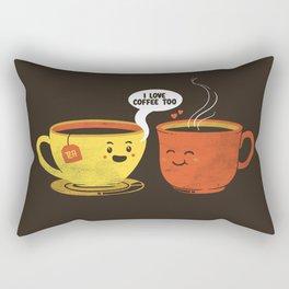 I Love Coffee Too Rectangular Pillow