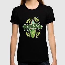 Surfing Paradise Vintage Retro Surfing Beach Sea T-shirt