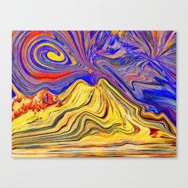 Vesuvio che brucia Canvas Print