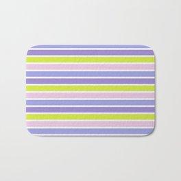 Trendy violet pink yellow modern stripes pattern Bath Mat