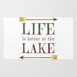 Life Is Better At The Lake - Summer Camp Camping Holiday Vacation Gift Rug
