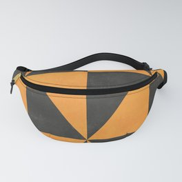 Geometric Triangle Pattern - Yellow, Gray Fanny Pack