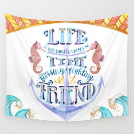 Life is Very Short Wall Tapestry