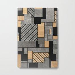 Concrete and Wood Random Pattern Metal Print