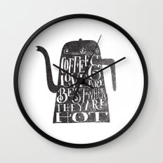 COFFEE & LOVE Wall Clock
